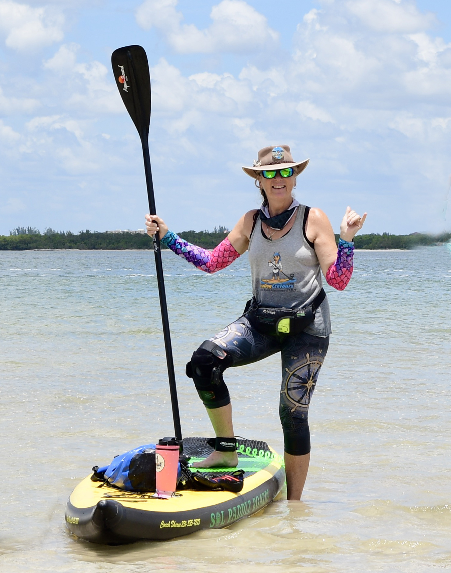 copach sheree paddle boarding - image